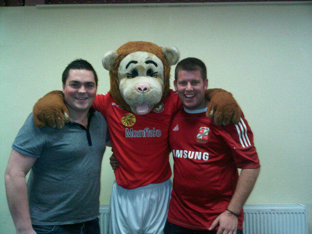 Dan with Gresty Lion