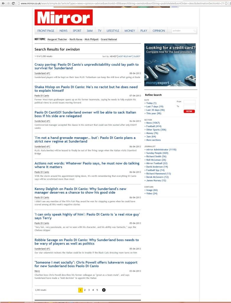 Press Watch - Daily Mirror