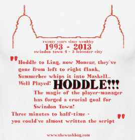92-93 Hoddle! Wembley T-Shirt