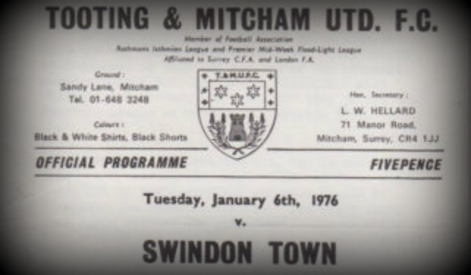 Tooting and Mitcham vs Swindon HoS