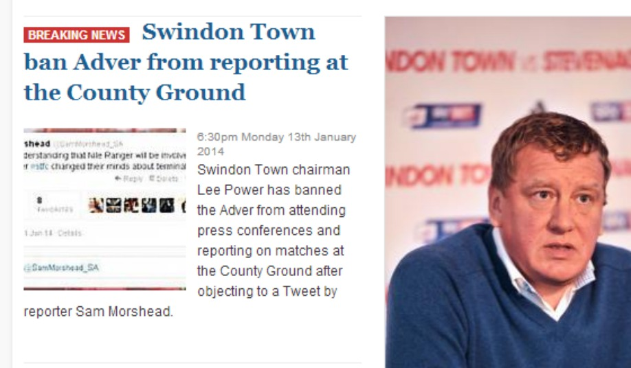 Swindon Advertiser Banned