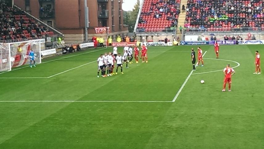 Town free-kick first half