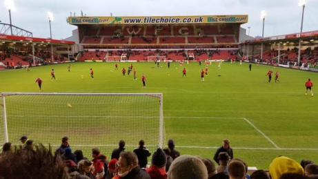 Daniel 'STFC' Hunt @dphunt - My view from a Sunny and Warm Bescot Stadium, Walsall! COYR!! #STFC