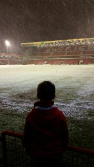Pauline Scott ‏@pollywd72 - Wow! My first away game. #swindon'tilIdie