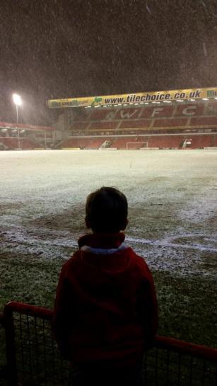 Pauline Scott @pollywd72 - Wow! My first away game. #swindon'tilIdie
