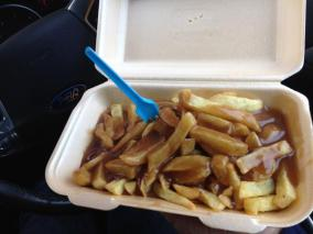 @SelwoodAndy - @thewashbag chips and gravy pre match. Best reason to go north
