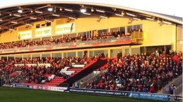 @jamiestfc78 Excellent #stfc away following again at Fleetwood - seated section nearly full #WeAreTopTheLeague @thewashbag