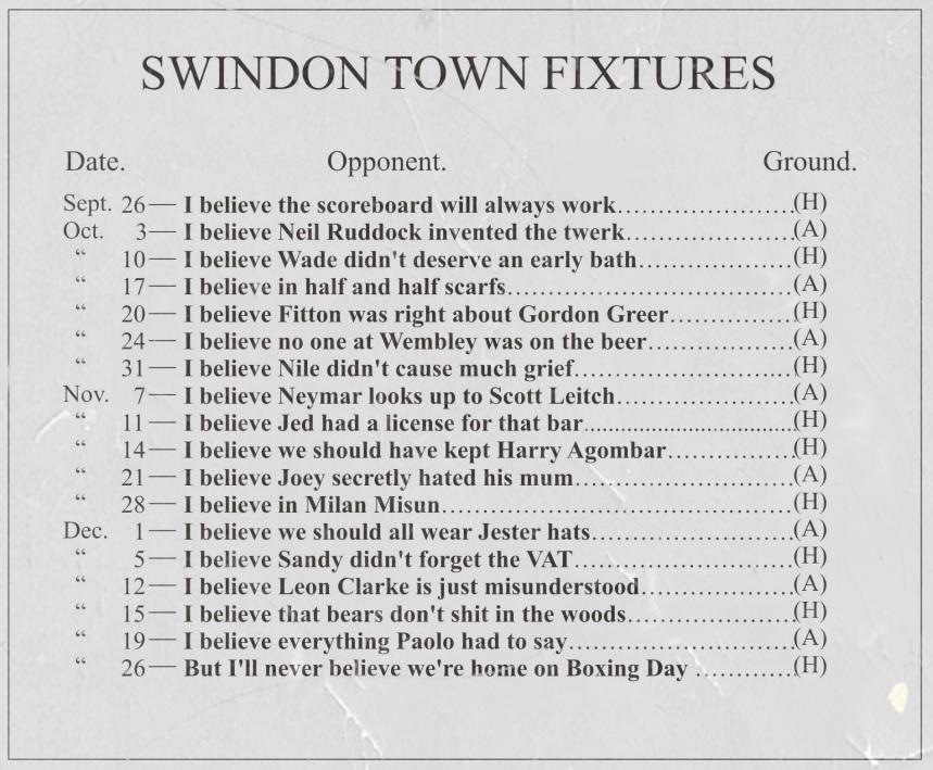 2015-16 Fixtures