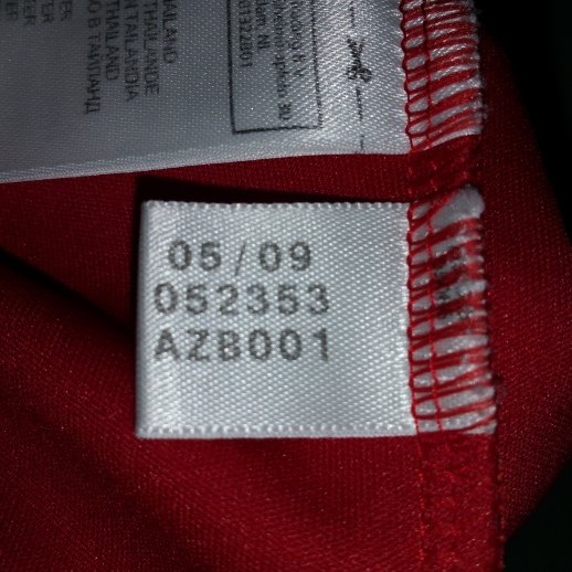 you can tell the season of any authentic adidas shirt from 2000 season was made by a small date tag inside