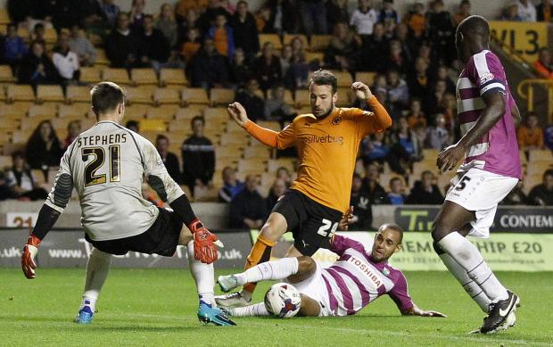 Jamie Stephens in action for Barnet vs Wolves - source http://www.newsshopper.co.uk/